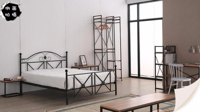 简约现代宿舍公寓家用铁艺床电脑桌床头柜椅子沙发电视柜椅子全屋