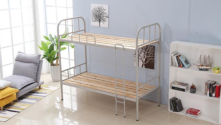 上下铺铁床双层床高低床铁艺床员工宿舍床大学生公寓床成人铁架