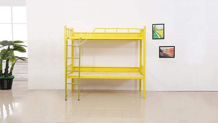 上下铺铁床双层床高低床铁艺床员工宿舍床大学生公寓床成人铁架床D型