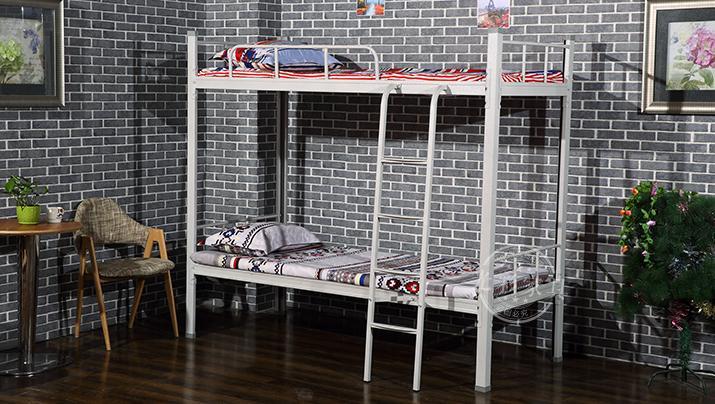 简约现代单人铁床双人上下铺双层成人铁架铁艺床学生床宿舍高低床