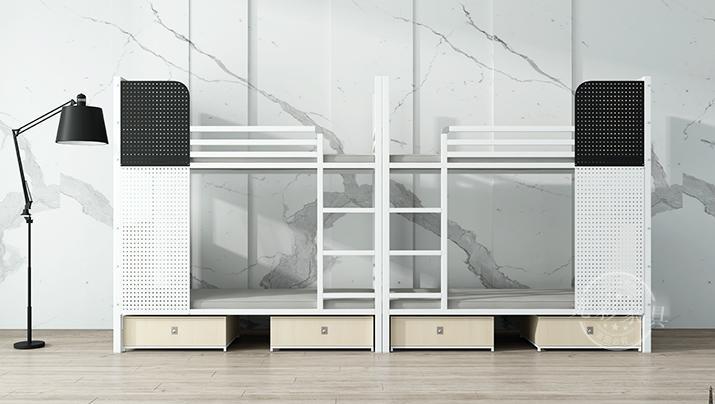 上下铺双层钢铁架床大学生员工宿舍双人床高低床公寓床简约铁艺床