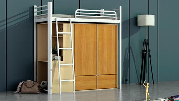 带衣柜的上下铺铁床在哪里可以买到?
