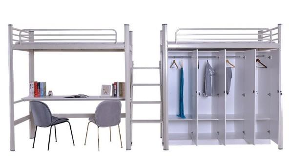 厂家批发环保衣柜步梯书桌上床下桌学生校员工宿舍连体公寓组合床