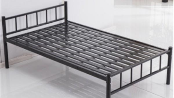厂家定制员工民宿1.2米单层铁架床1.8米宿舍单人1.5米公寓铁艺床